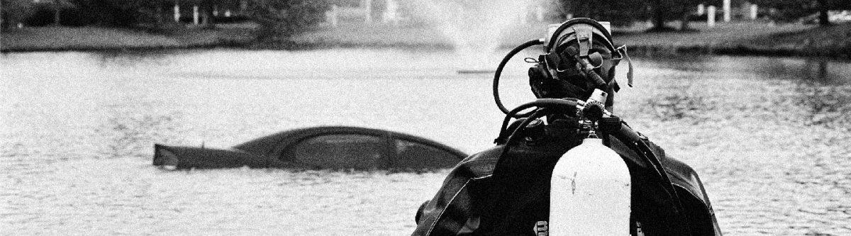 Responder in scuba gear.